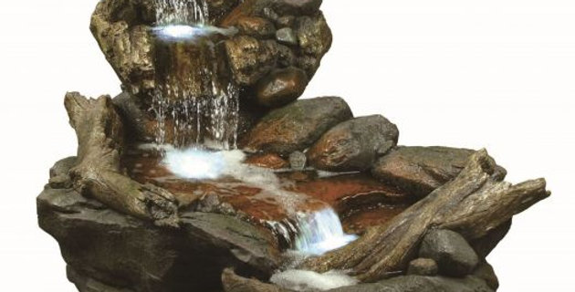 Large Boulder River Falls Water Feature
