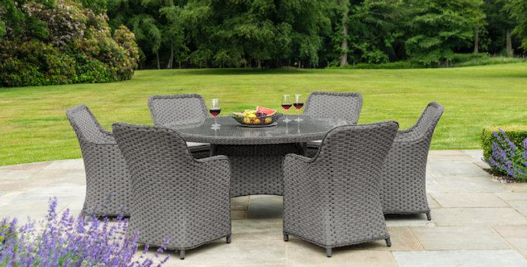 Eden 6 Seater round dining set