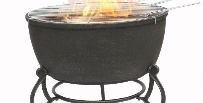 Meredir XL Cast Iron Firebowl