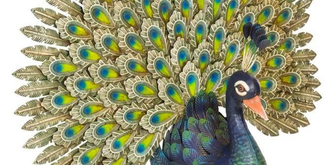 Metal Peacock Garden Ornament