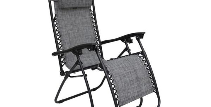 Grey zero gravity relaxer chair