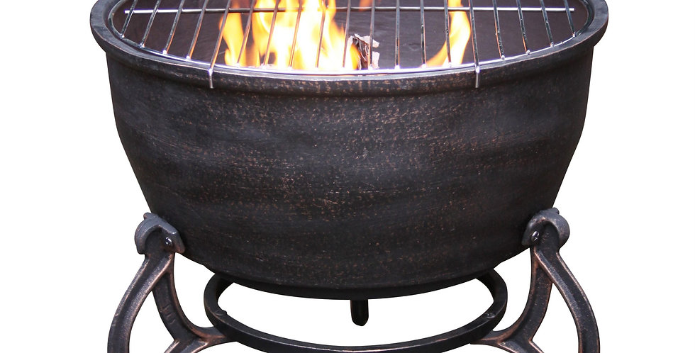 Elidir  Cast Iron Fire Bowl and BBQ grill