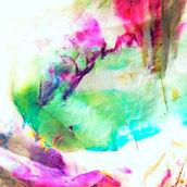Colourful crumpled rag