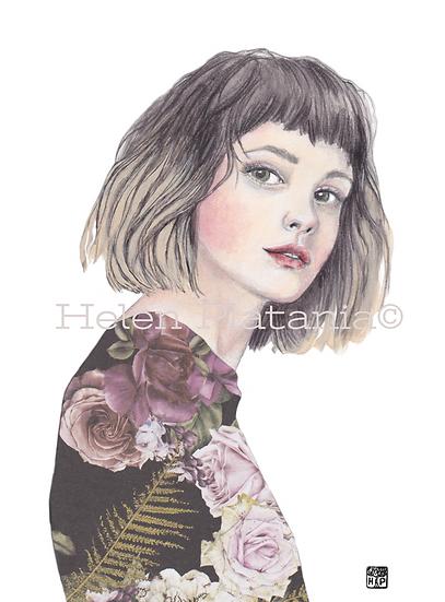 Bella-Rose - Fine Art Greeting Card