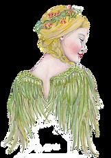 "Artwork by Helen Platania titled ""Aussie Angel"""