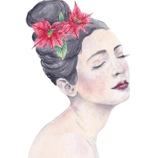 Poinsettia   Helen Platania Art