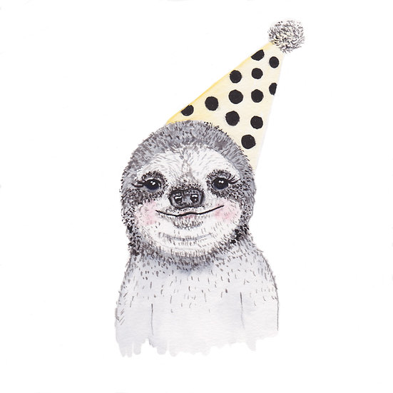 Sloth - Fine Art Greeting Card