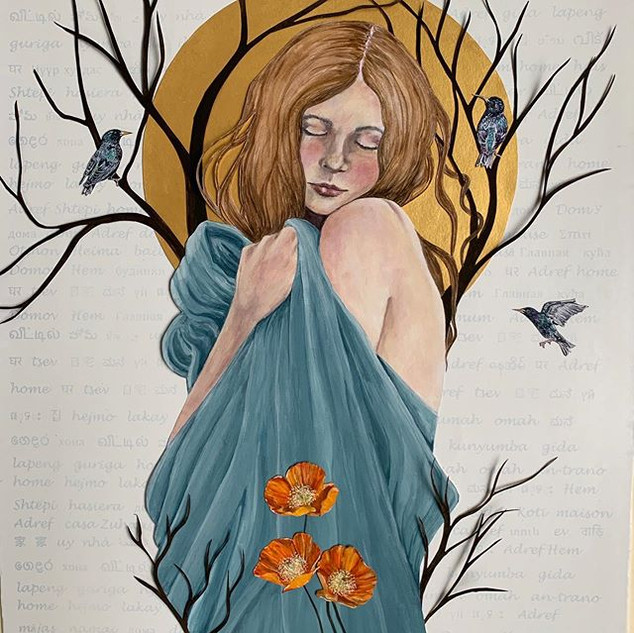 'Adref' (Welsh for 'home')   Helen Platania Art