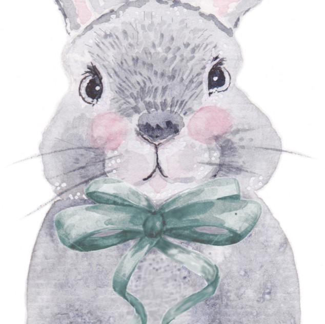 Bunny Bows   Helen Platania Art