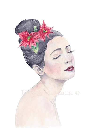 Poinsettia - Fine Art Greeting Card