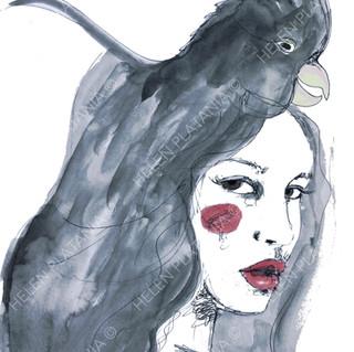 Black Cockatoo | Helen Platania Art