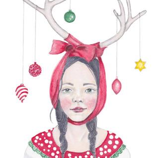 Miss Deer | Helen Platania Art