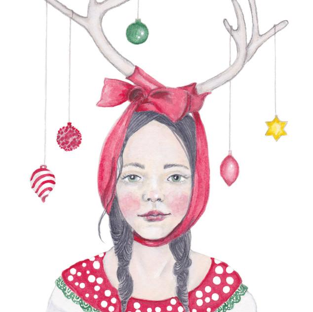 Miss Deer   Helen Platania Art