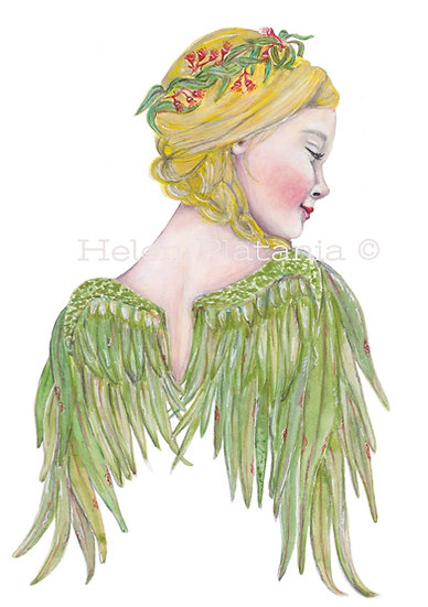 Aussie Angel - Fine Art Greeting Card