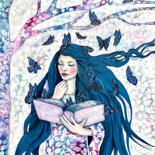 Book lover   Helen Platania Art