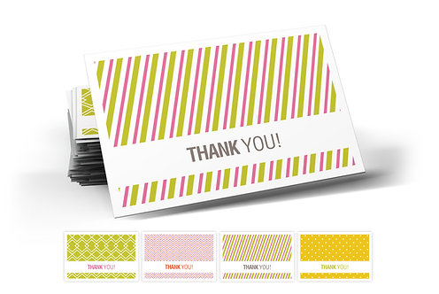 Thanks Today, Thank You Postcards, 4 Designs. (set of 40)