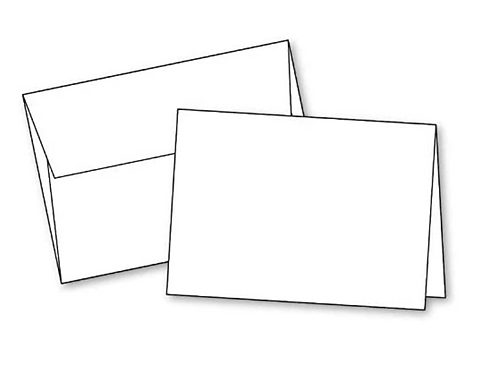 """Blank White Invitation/Holiday Cards with Envelopes, 5""""x7"""" (Set of 20)."""