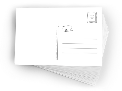 Blank Mailable Postcards. (set of 50)