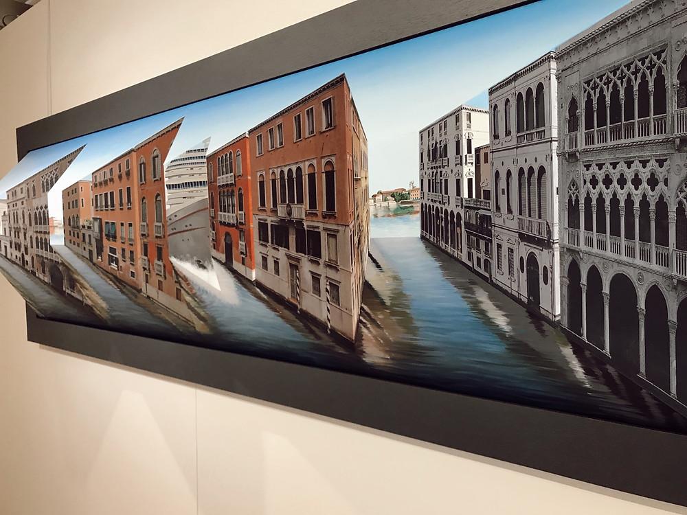 Patrick Hughes optical illusion art at Belair Fine Art Venice