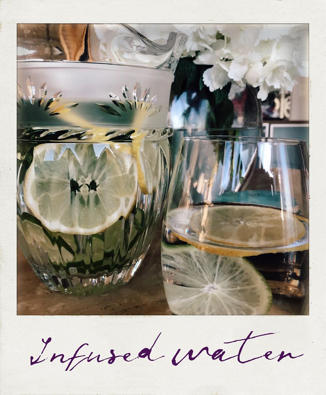 Lemon, Lime, Mint Infused Water