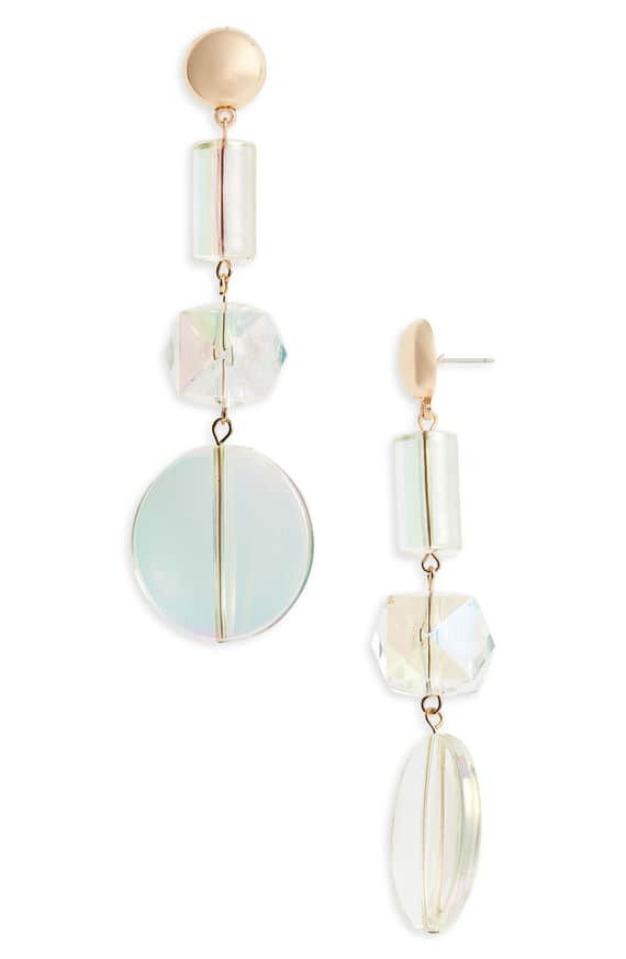 Iridescent Geo Drop Earrings by Leith