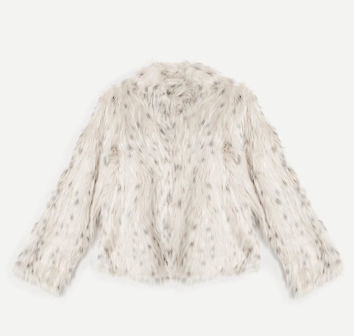 Topshop Snow Leopard Print Coat