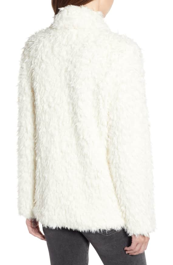 Faux Fur Jacket Willow & Clay back