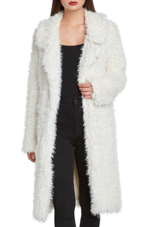 Faux Fur Jacket Willow & Clay front