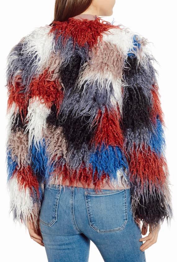 ASTR the label shaggy faux fur coat