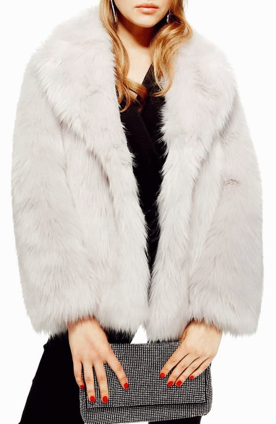 Camille Hooded Faux Fur Coat