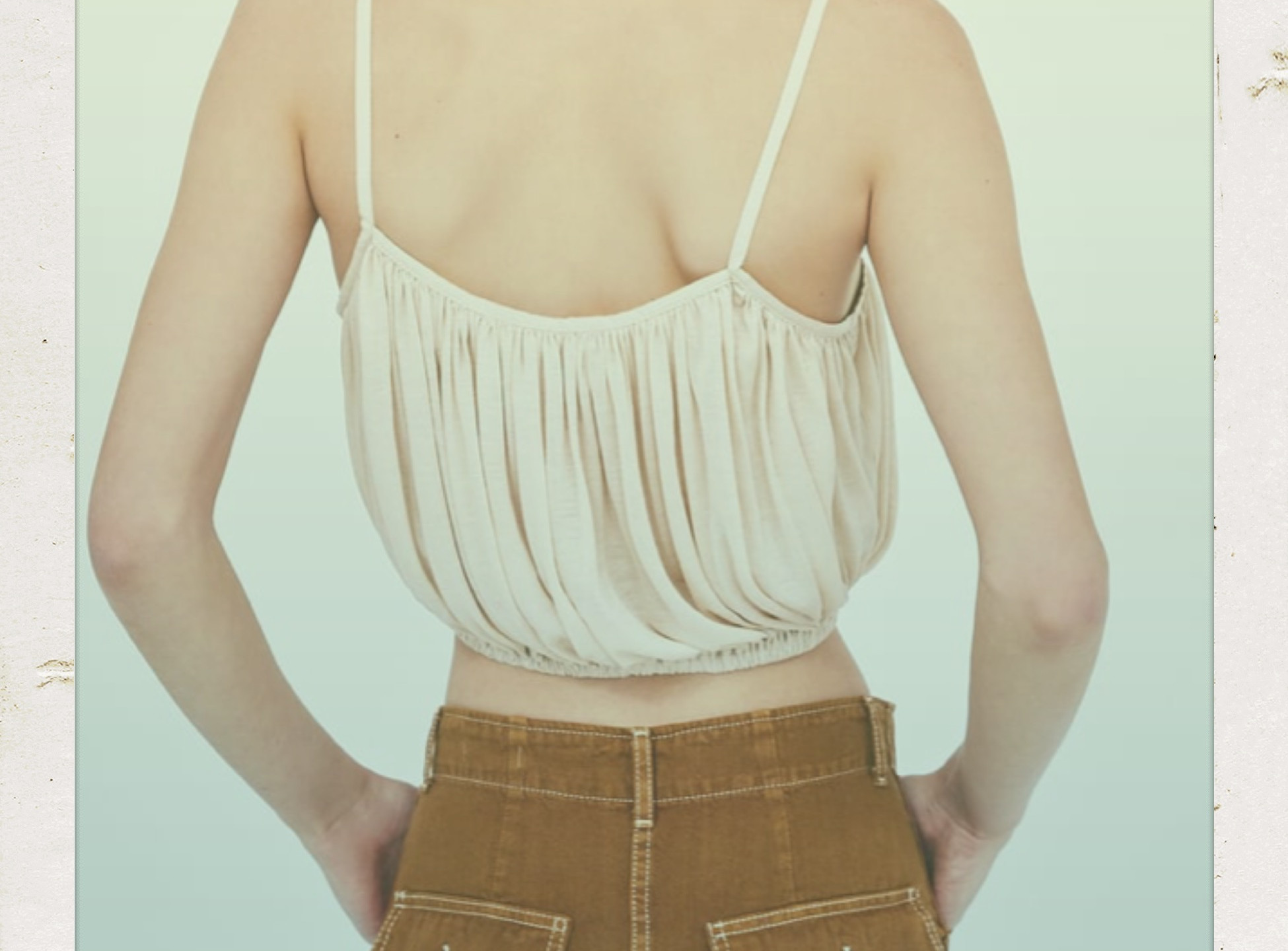 Zara Puffy Crop Top