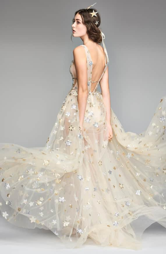 Orion Tulle & Charmeuse Gown Back