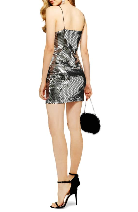 Foil Sequin Minidress from Topshop