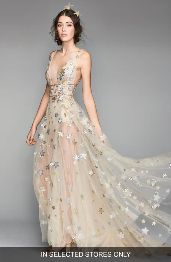 Orion Tulle & Charmeuse Gown Front