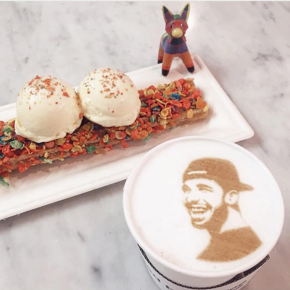 Bruno's Taco Bar Vegas Custom Latte Art