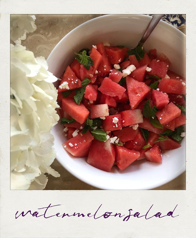 Watermelon Mint Salad Recipe