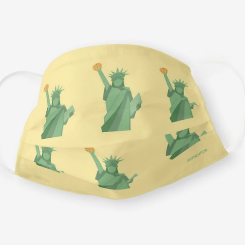 New York Bagel of Liberty Face Mask