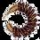 Thumbnail: Brown Glass Beaded Hoop