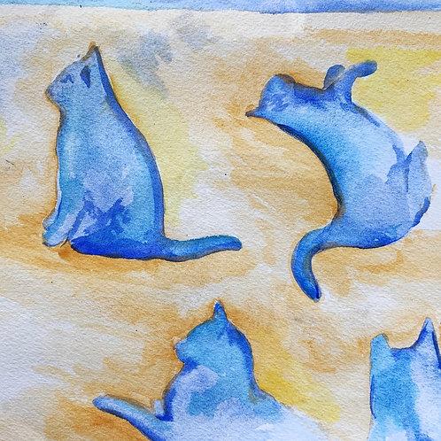 """Studio Cats"" print"