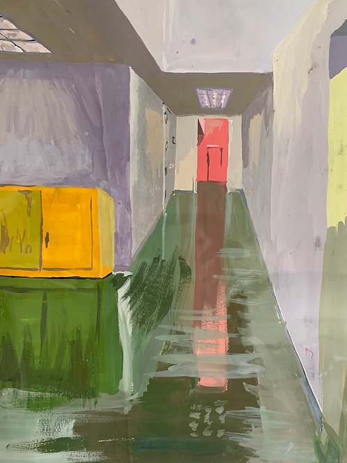 """""""Painting Hallway at Tyler"""""""