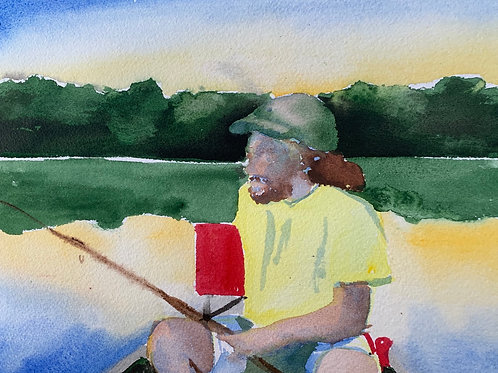 """John Fishing - Marsh Creek"""