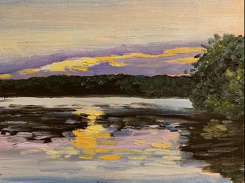 """""""Crack of Fire Sunset -Marsh Creek"""""""
