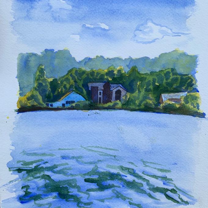 """""""Houses on Lake Nockamixon"""""""
