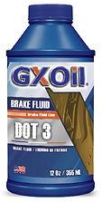 GXOil BRAKE FLUID DOT-3 (12Oz)
