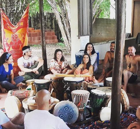 Roda de Conversa sobre Ancestralidade Nativa e Tambores no Drumming
