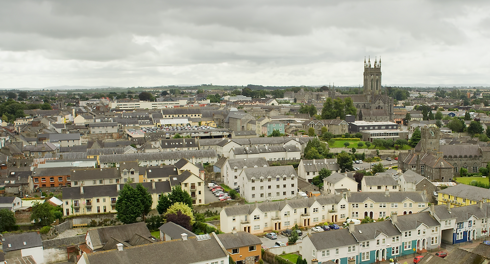 Image of Kilkenny City from above for Vacant Site Levy press release