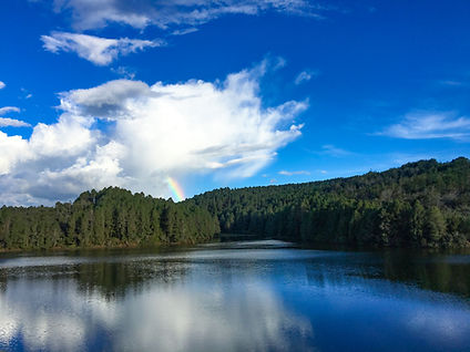 Colombia Lake With Rainbow
