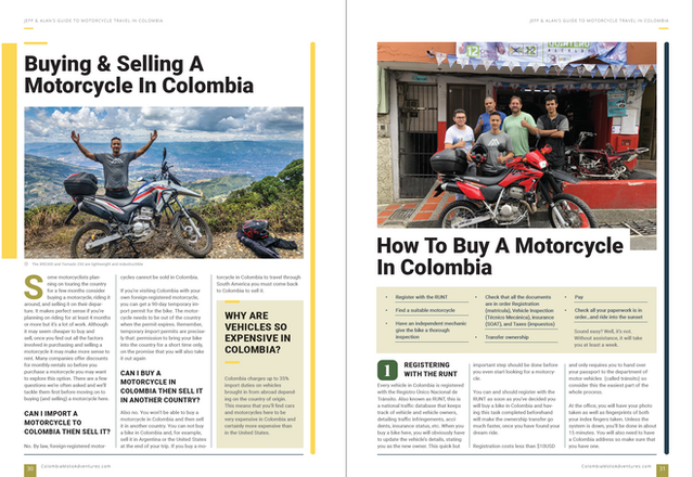 South America Motorcycle Travel Route