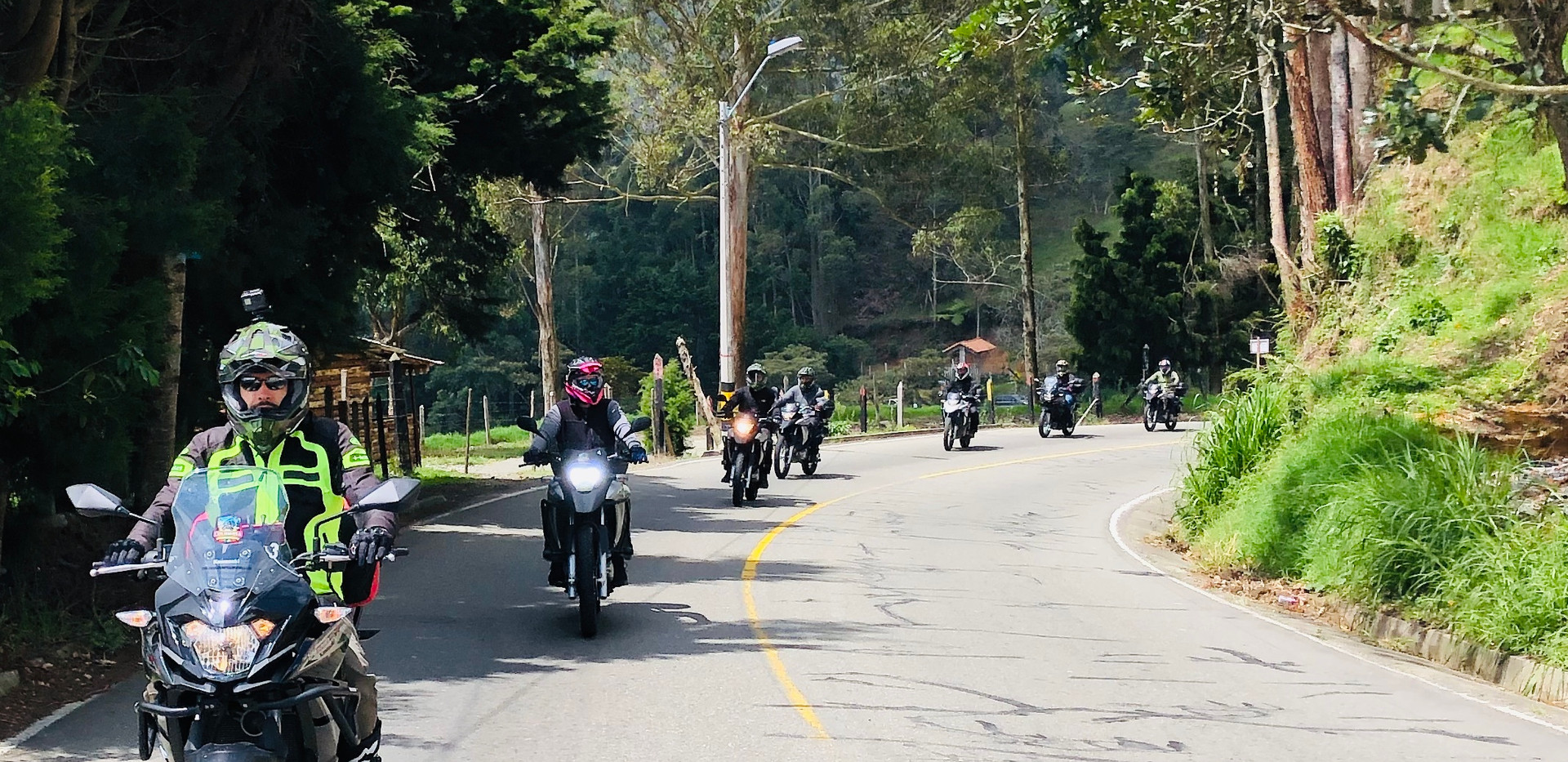 Motorcycle Group in Colomiba