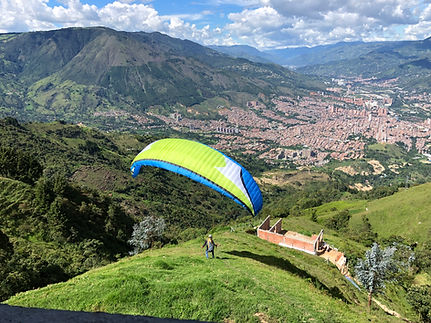 Medellin Paragliding and Motorcycle Riding